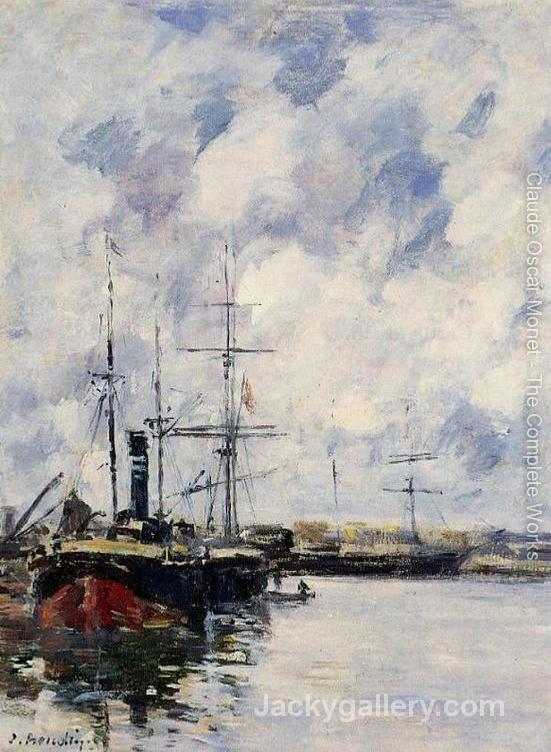 A Corner of the Deauville Basin - by Claude Monet paintings reproduction