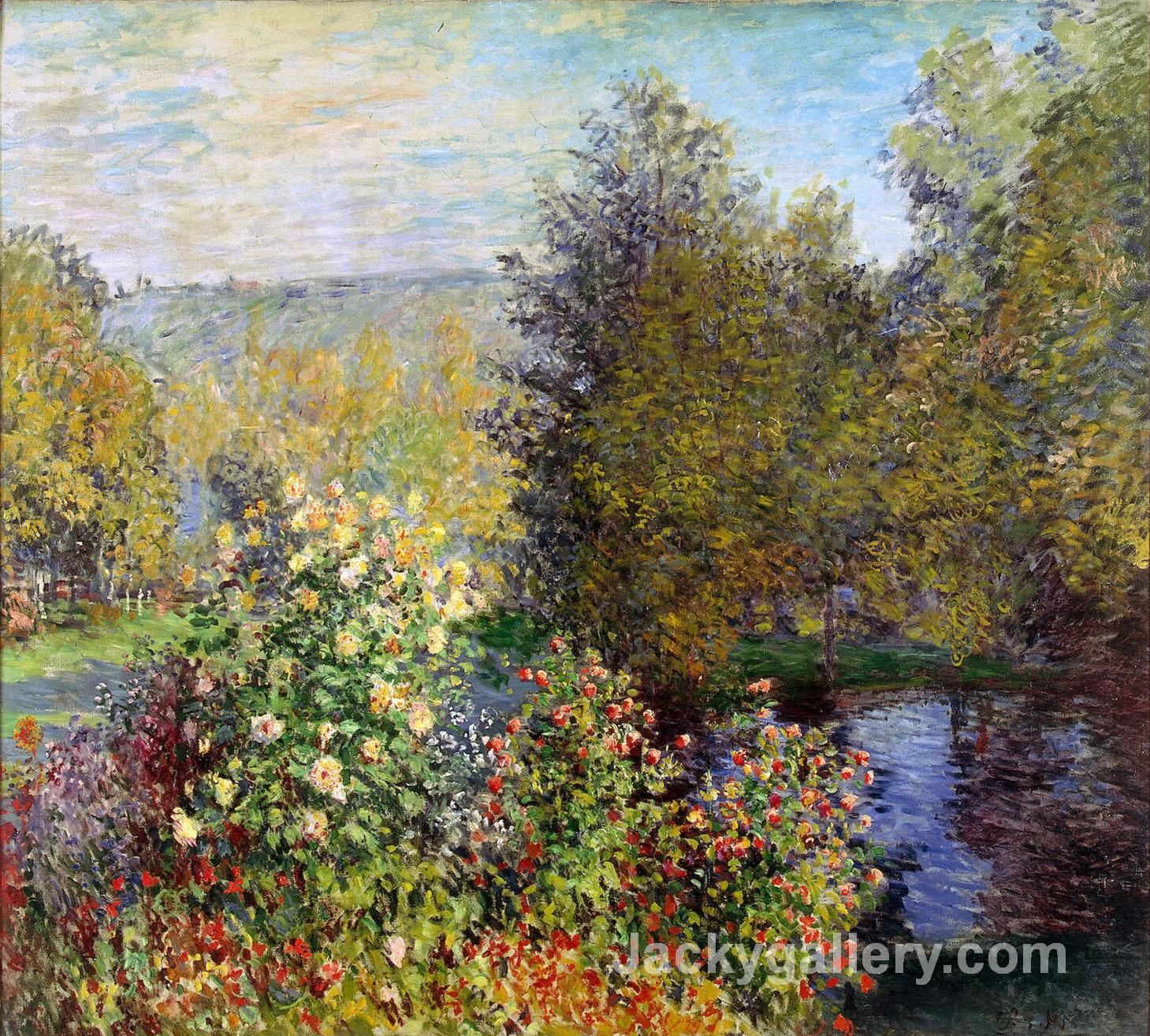 A Corner of the Garden at Montgeron by Claude Monet paintings reproduction
