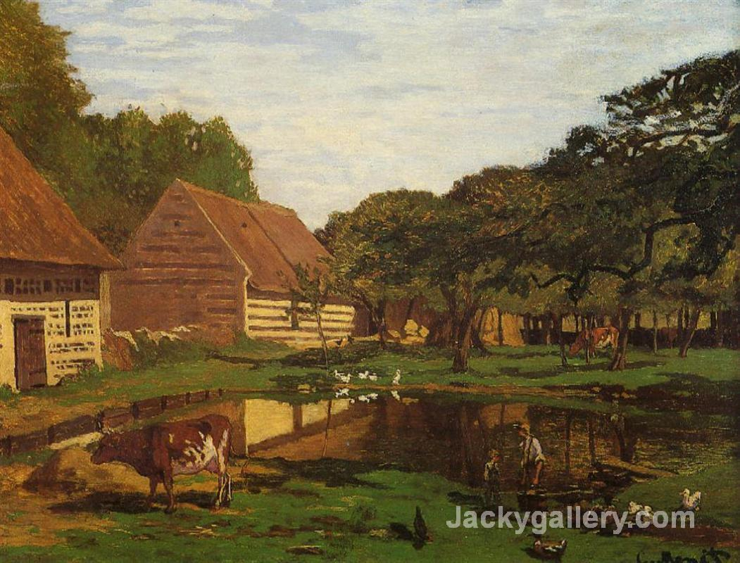 A Farmyard in Normandy by Claude Monet paintings reproduction