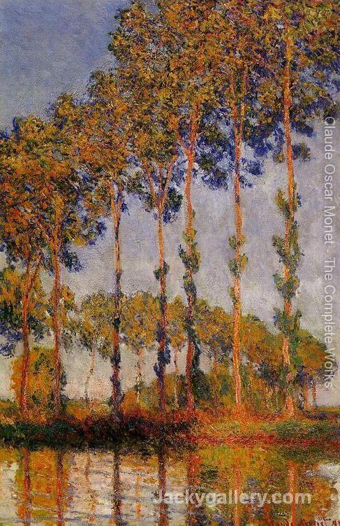 A Row Of Poplars by Claude Monet paintings reproduction