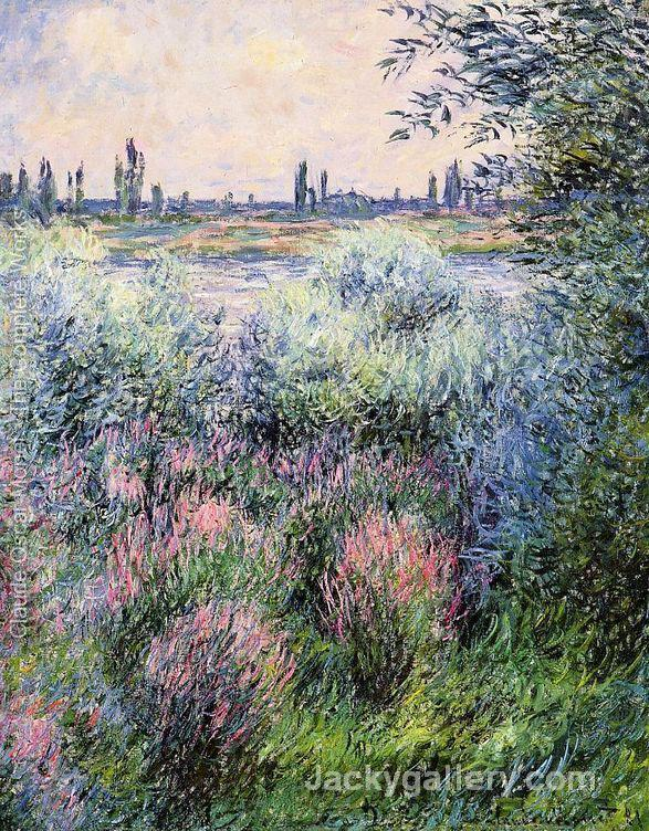 A Spot On The Banks Of The Seine by Claude Monet paintings reproduction
