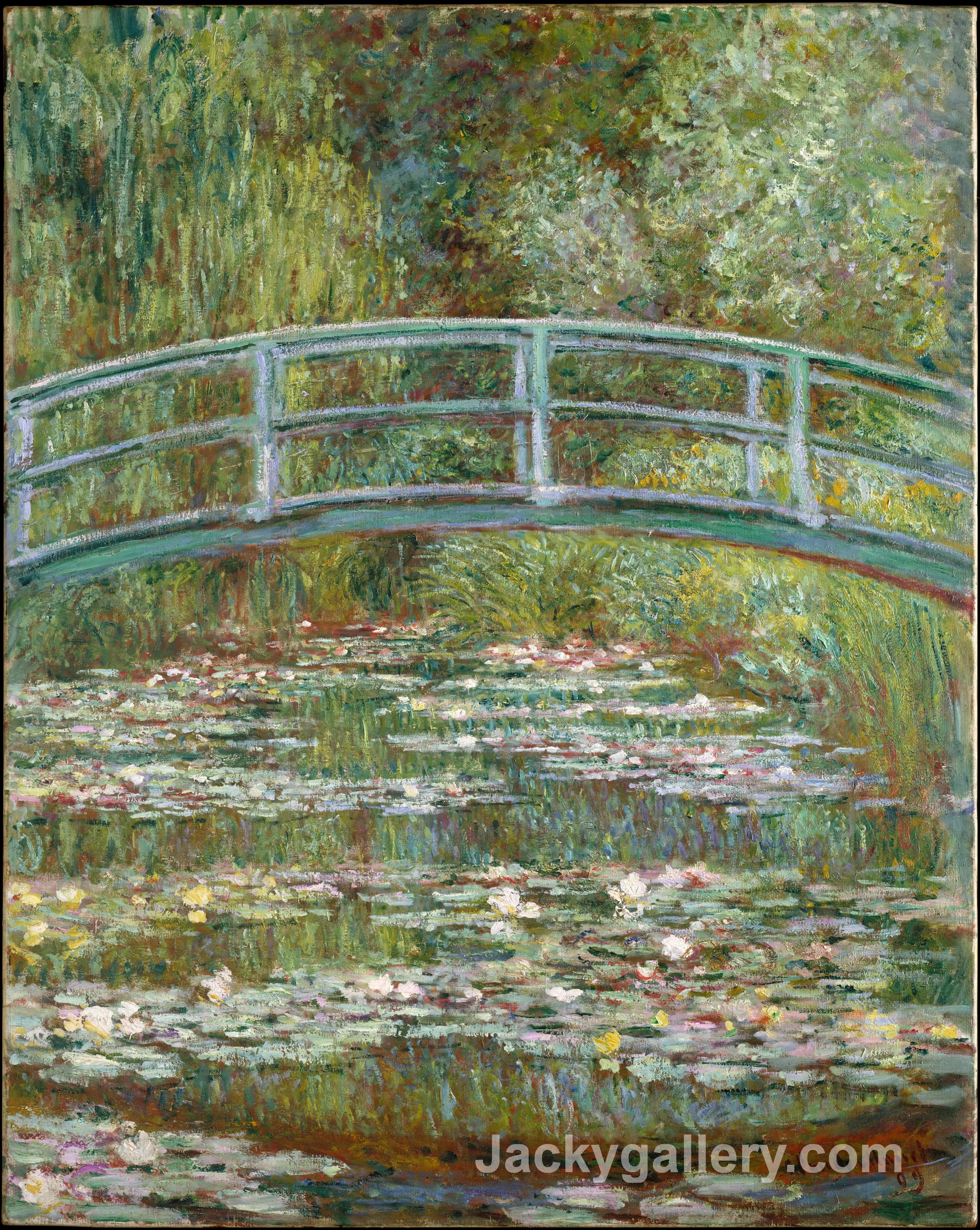 A Waterlily Pond, Symphony In Rose by Claude Monet paintings reproduction