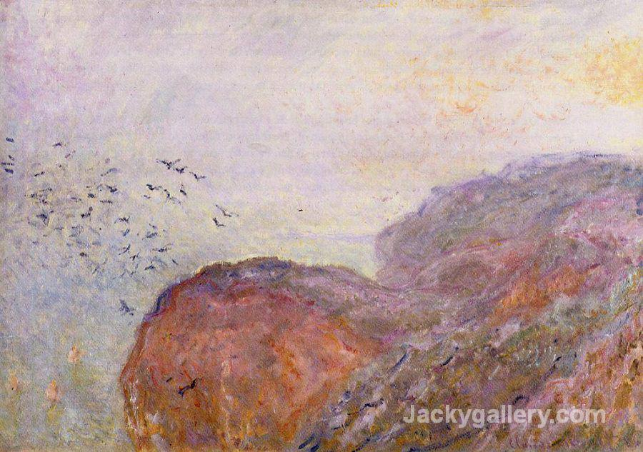 A cliff near dieppe by Claude Monet paintings reproduction