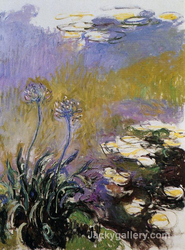 Agapanthus by Claude Monet paintings reproduction