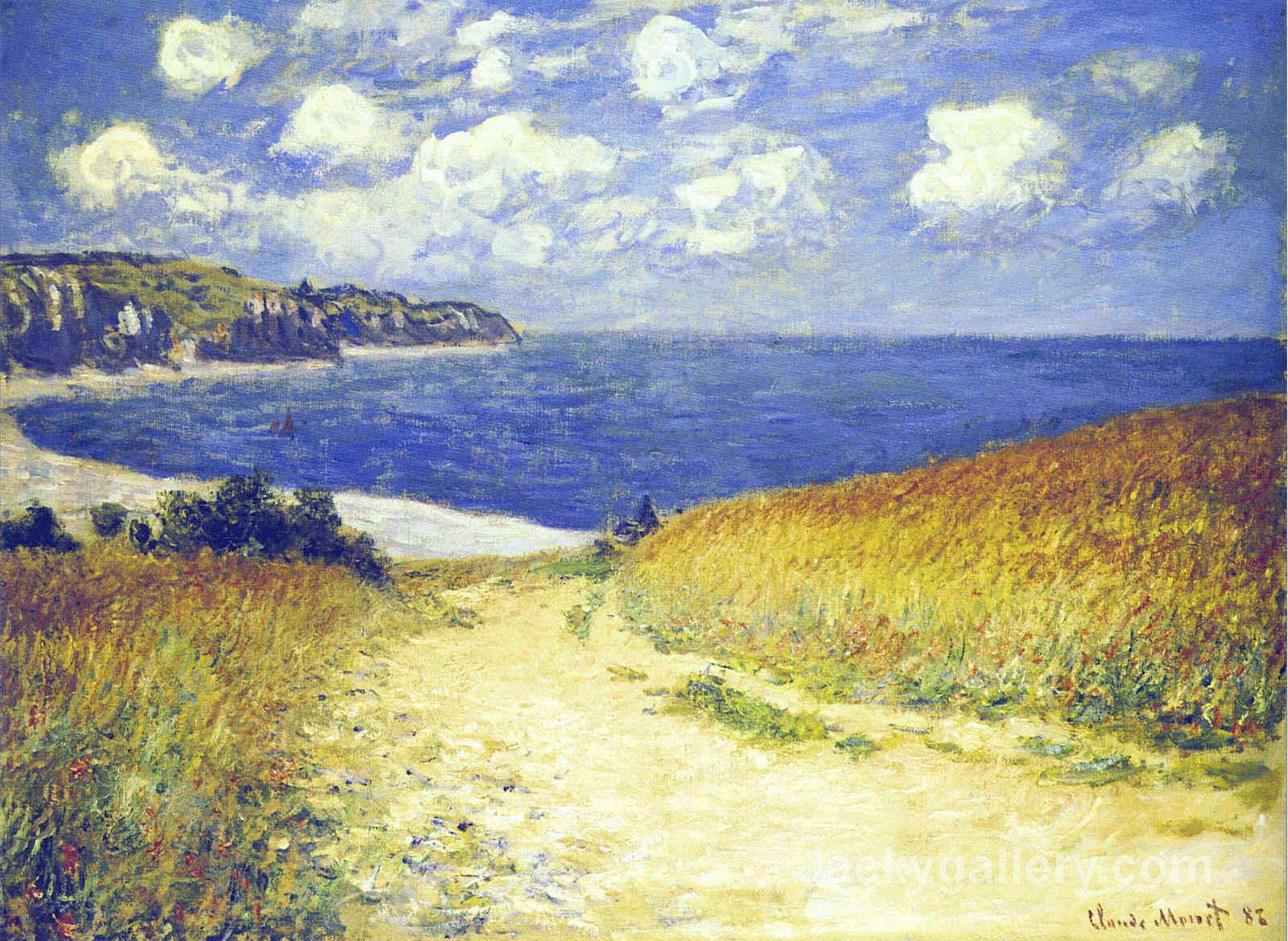 Alley near Pourville by Claude Monet paintings reproduction