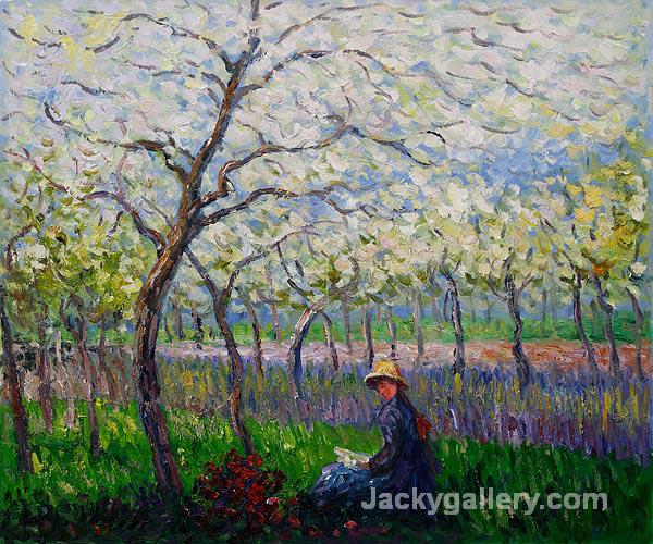 An Orchard in Spring by Claude Monet paintings reproduction