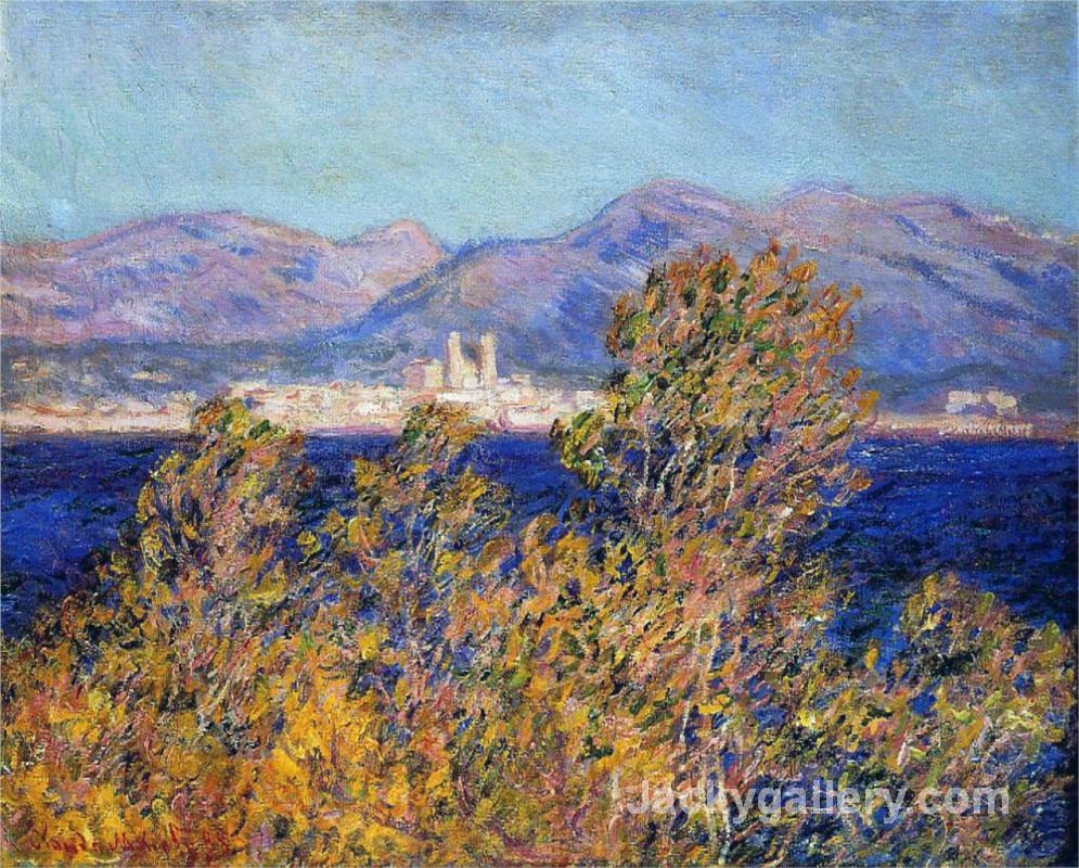 Antibes Seen from the Cape, Mistral Wind 188 by Claude Monet paintings reproduction