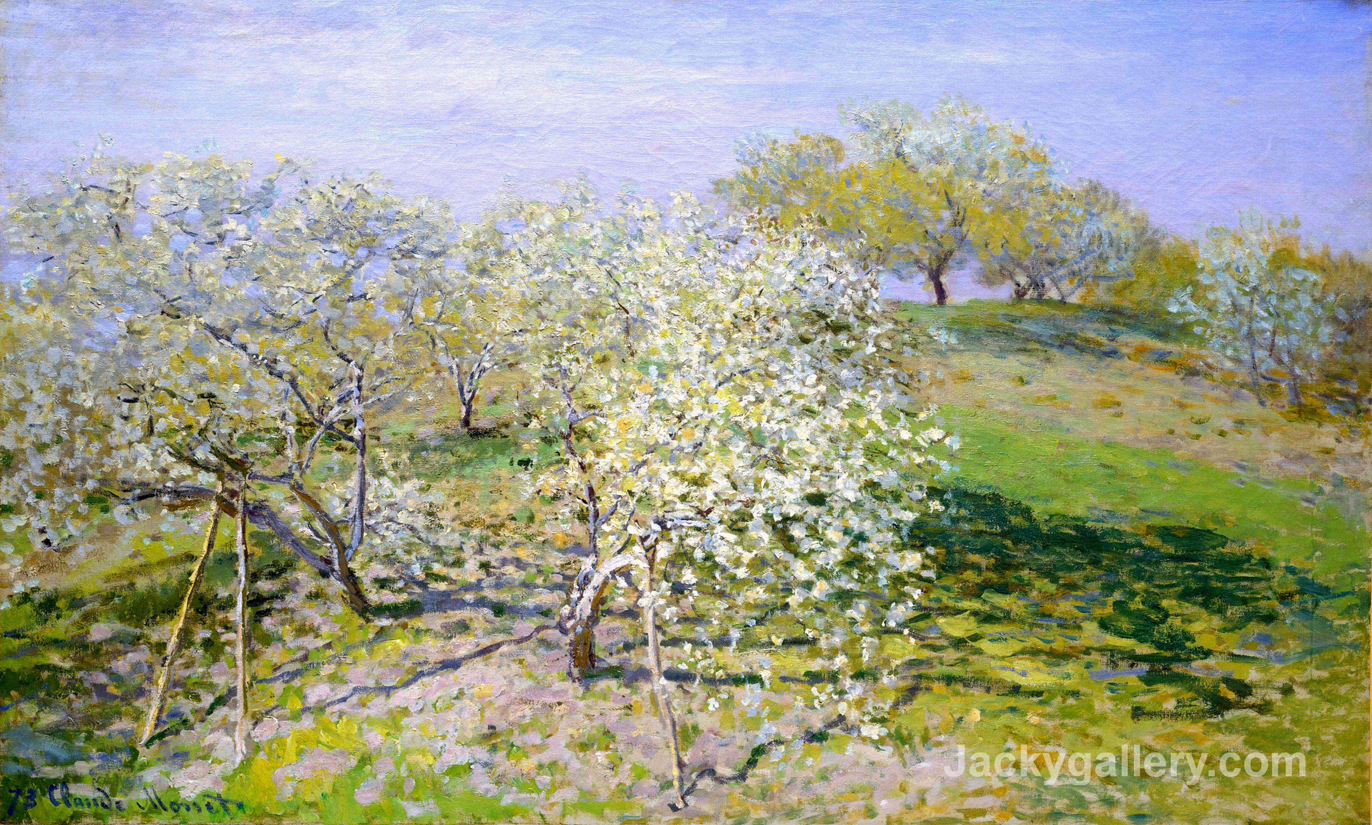 Apple Trees in Bloom by Claude Monet paintings reproduction