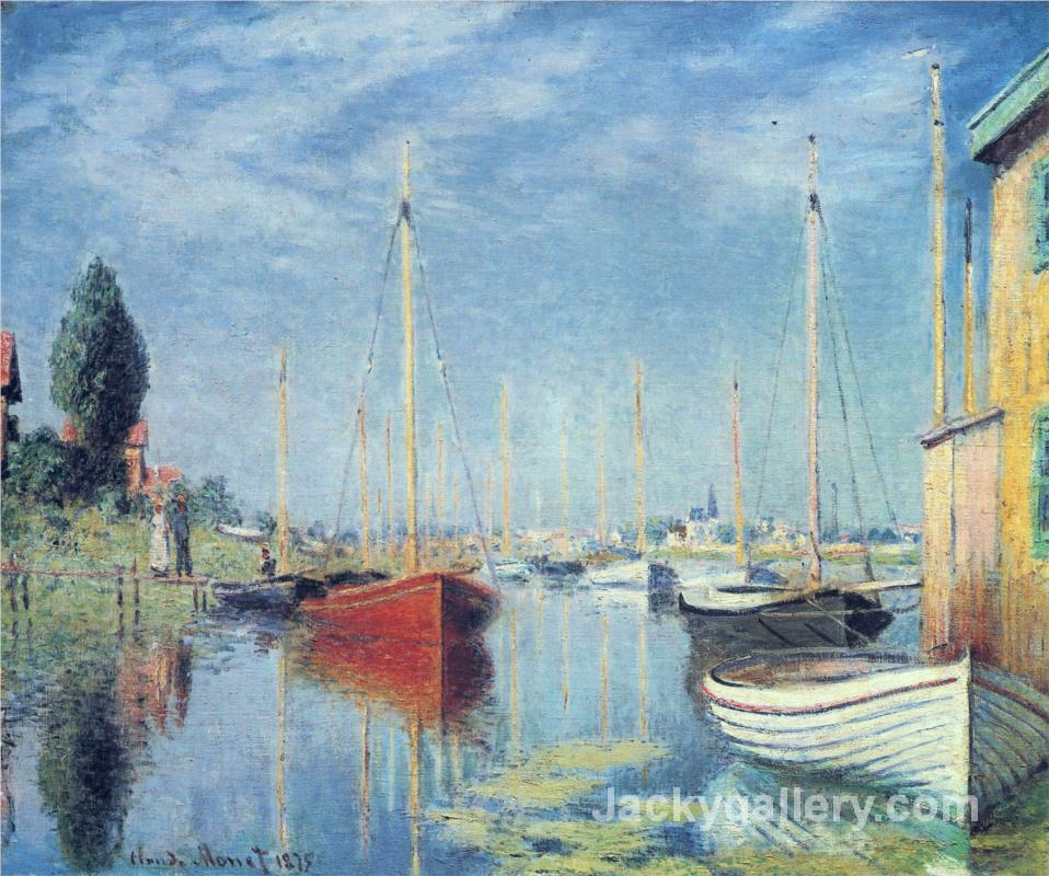 Argenteuil. Yachts by Claude Monet paintings reproduction