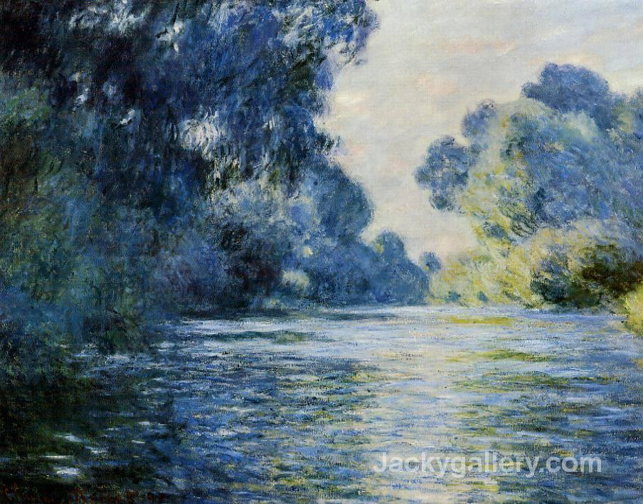 Arm of the seine at giverny by Claude Monet paintings reproduction