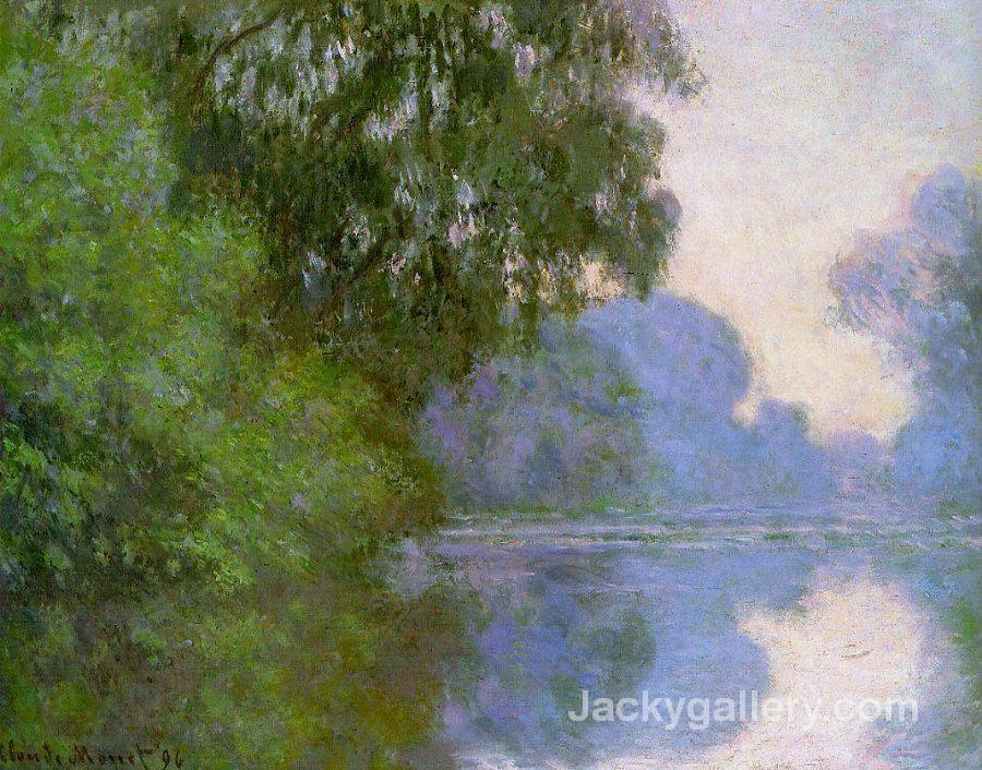 Arm of the seine near giverny morning by Claude Monet paintings reproduction