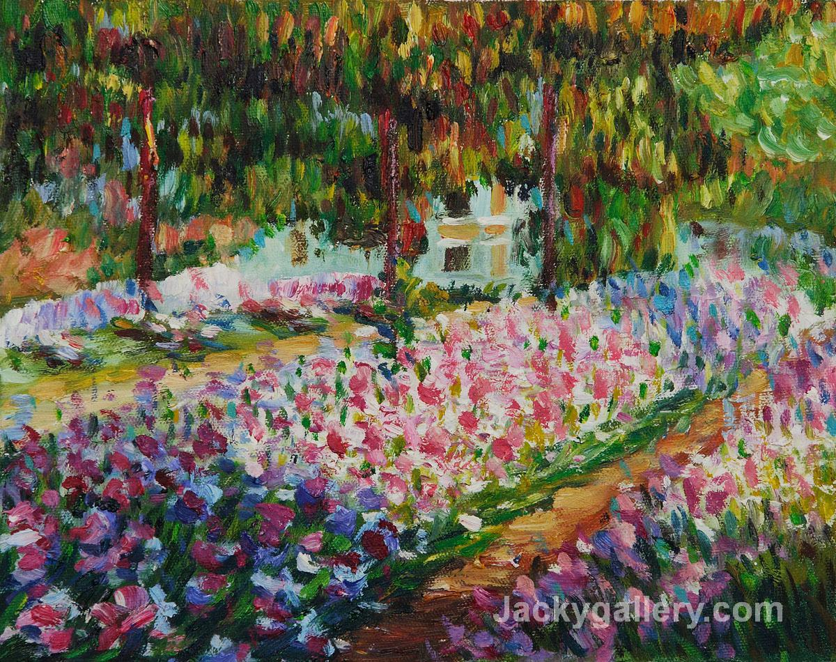 Artists Garden at Giverny II by Claude Monet paintings reproduction