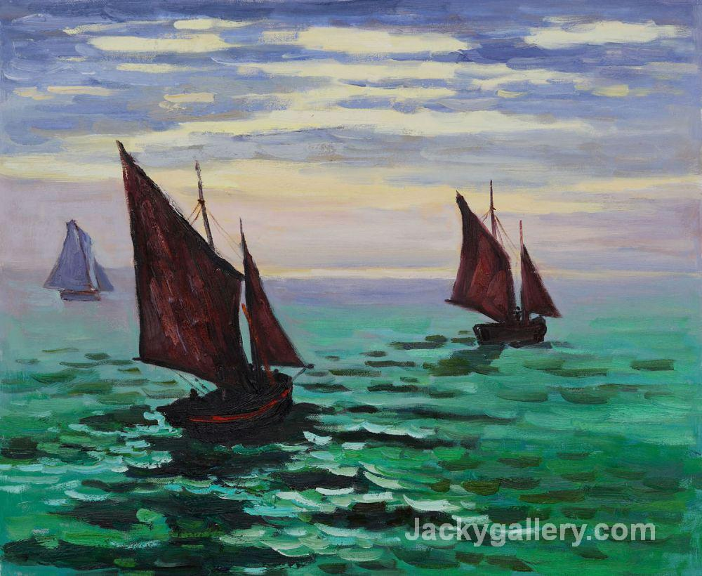 Boats Leaving the Harbormm by Claude Monet paintings reproduction