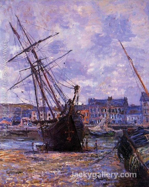 Boats Lying At Low Tide At Facamp by Claude Monet paintings reproduction