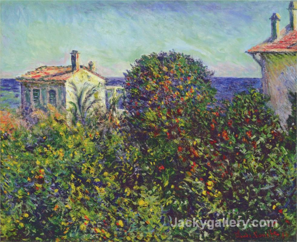 Bordighera, the House of Gardener by Claude Monet paintings reproduction