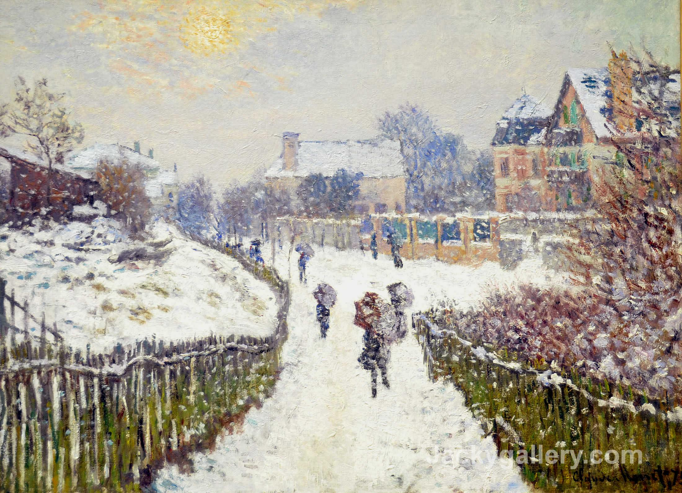 Boulevard Saint-Denis, Argenteuil, in Winter by Claude Monet paintings reproduction