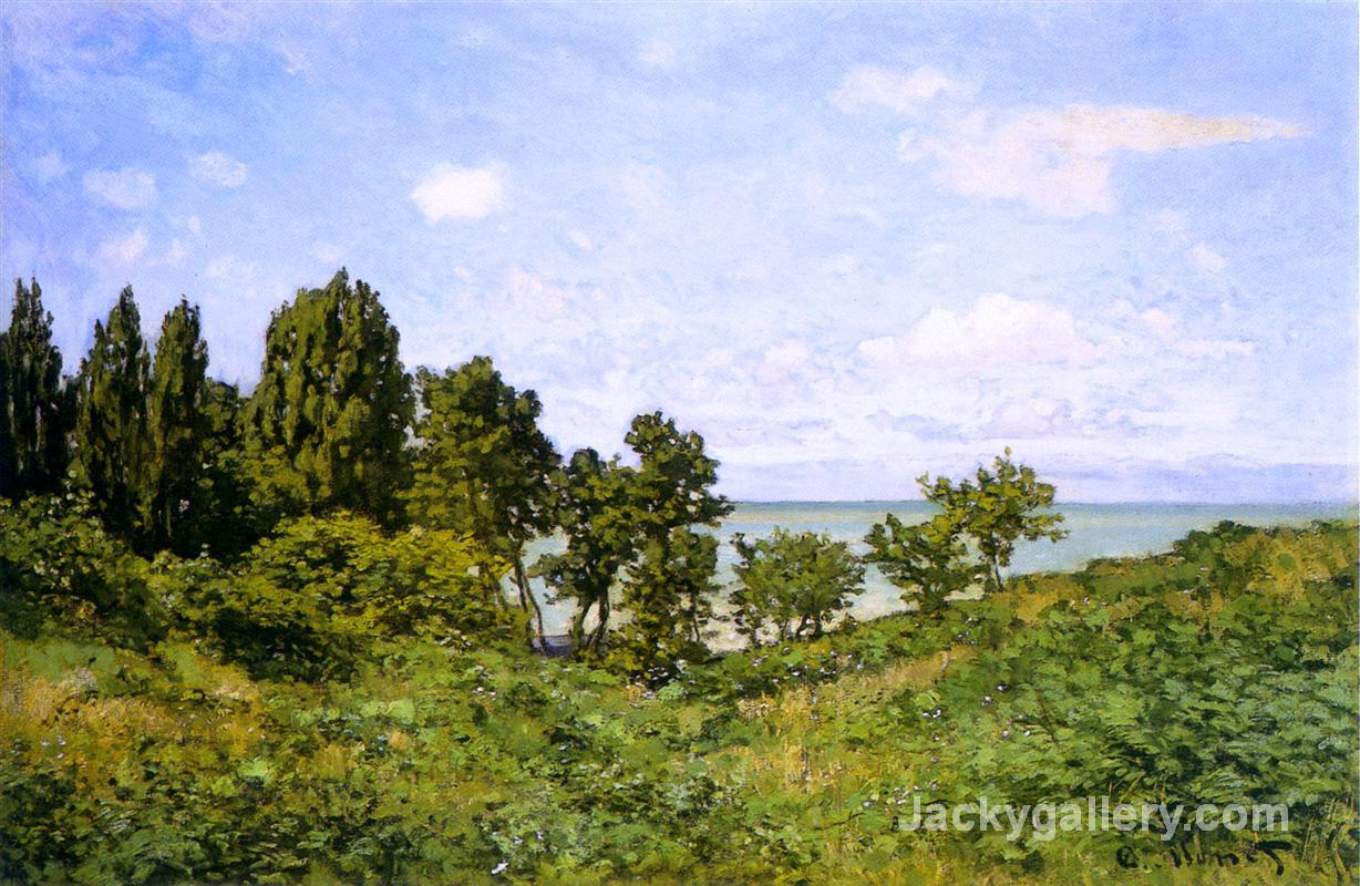 By the Sea by Claude Monet paintings reproduction