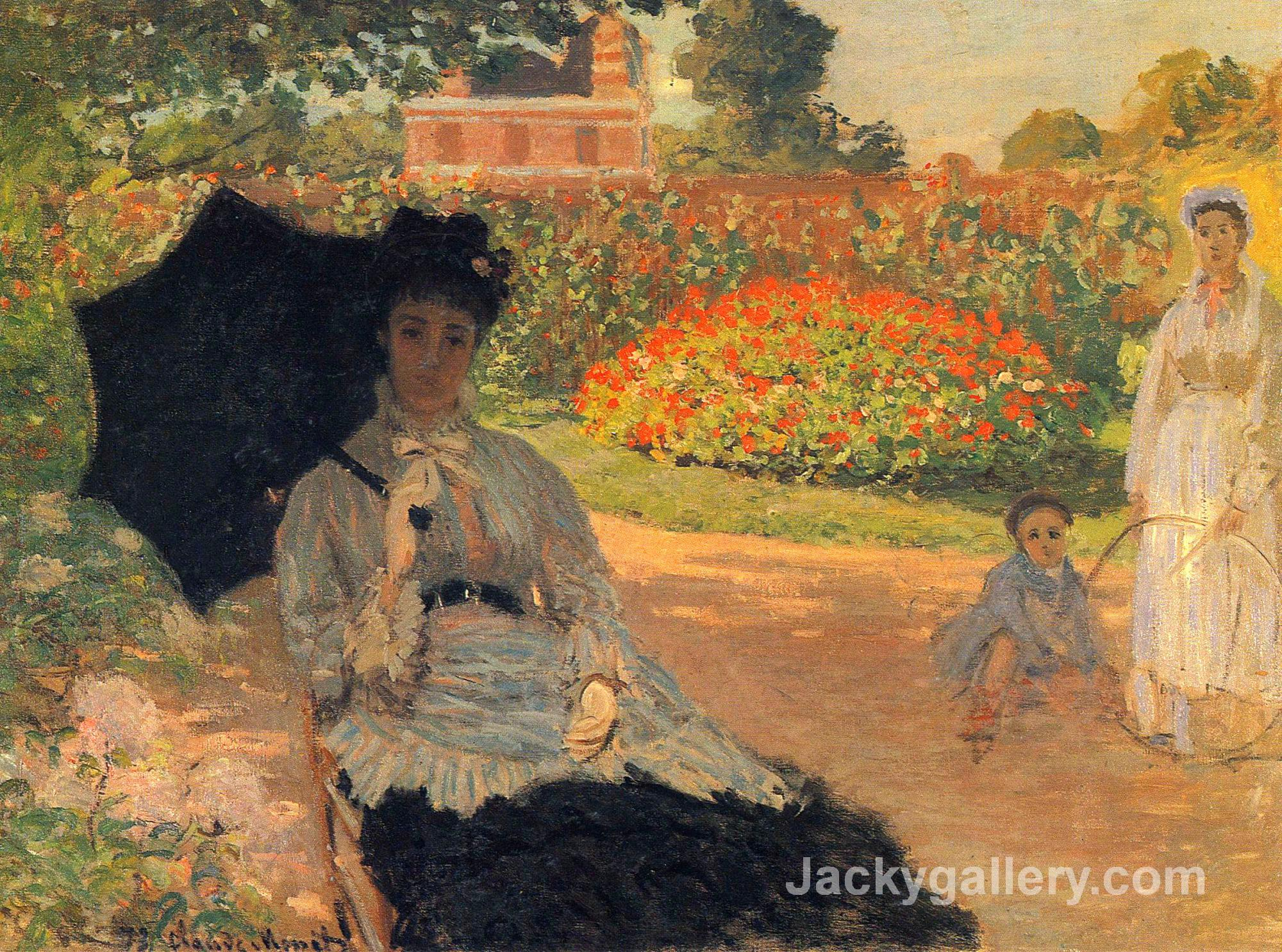 Camille Monet in the Garden by Claude Monet paintings reproduction