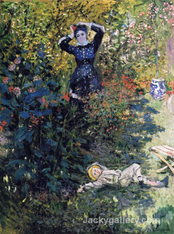 Camille and Jean Monet in the Garden at Argenteuil by Claude Monet paintings reproduction