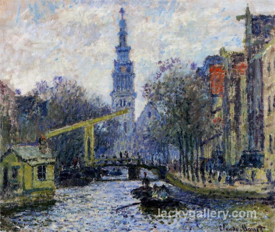 Canal in Amsterdam by Claude Monet paintings reproduction