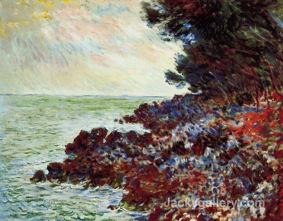 Cap martin morning effect by Claude Monet paintings reproduction