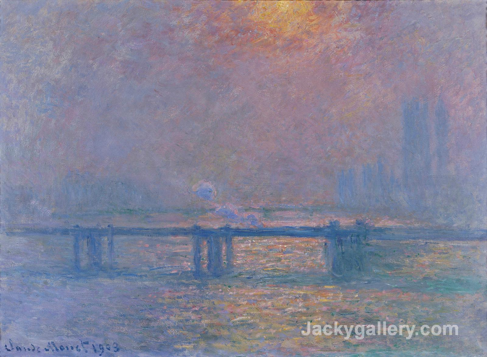 Charing Cross Bridge, The Thames by Claude Monet paintings reproduction