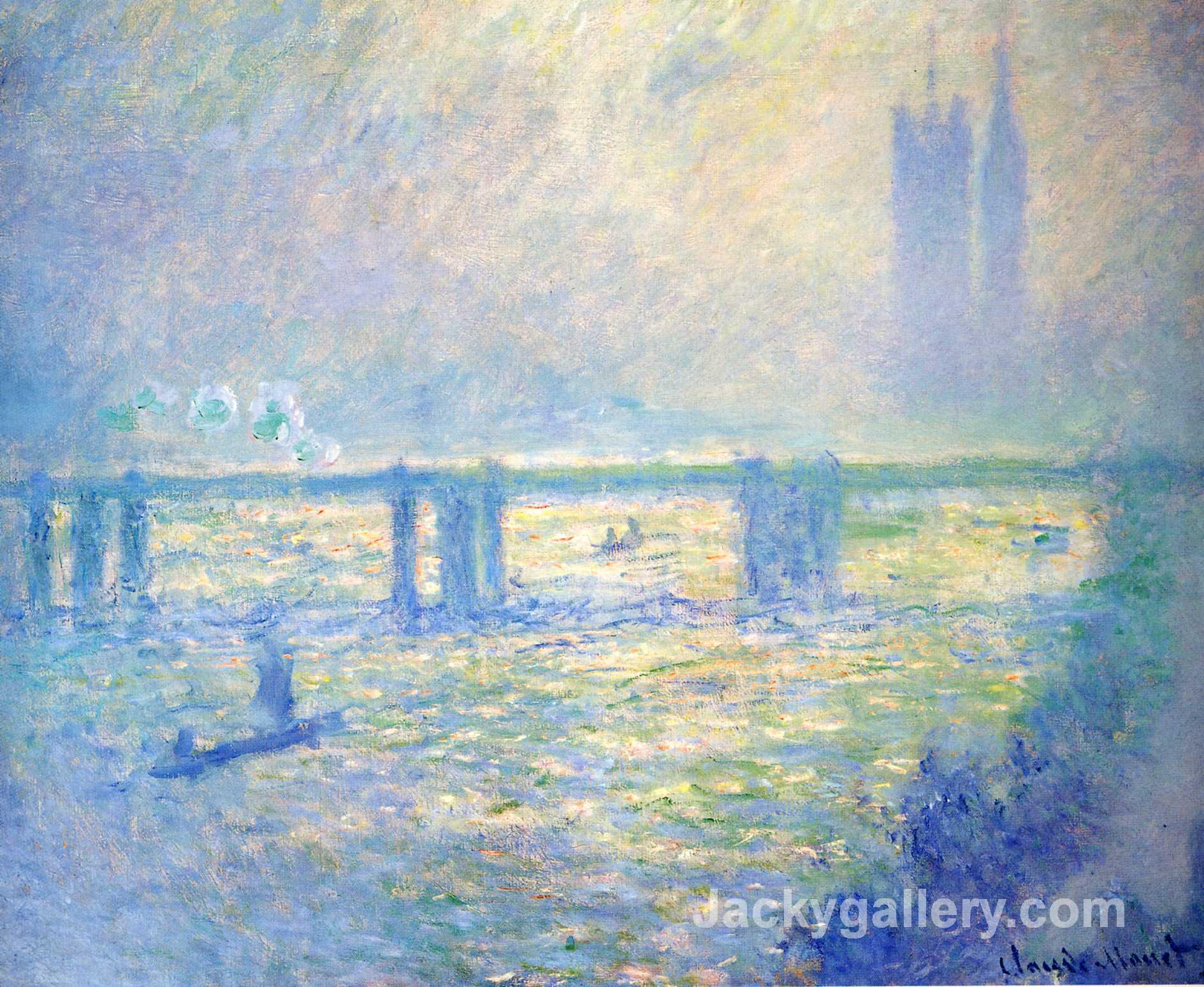 Charing Cross Bridge 03 by Claude Monet paintings reproduction