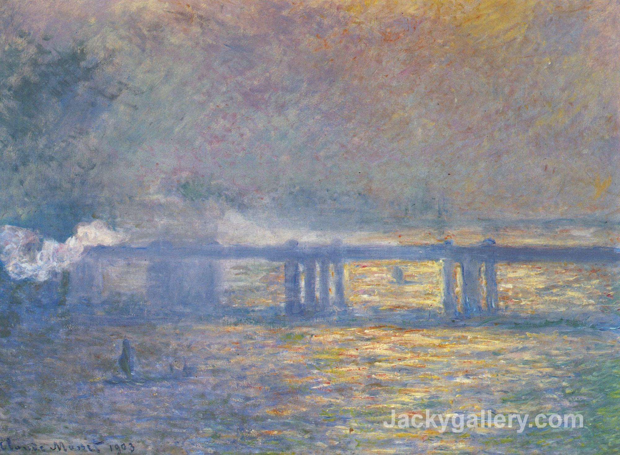 Charing Cross Bridge by Claude Monet paintings reproduction