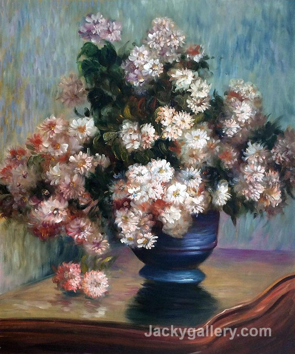 Chrysanthemums by Claude Monet paintings reproduction