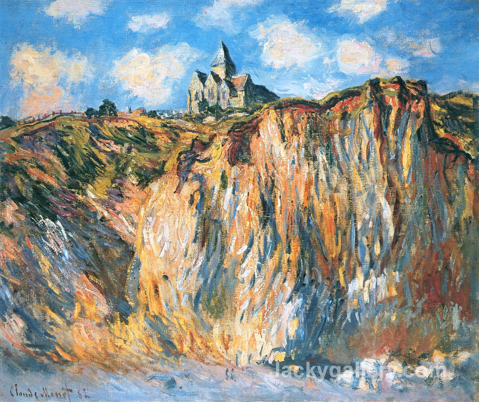 Church at Varengeville, Morning by Claude Monet paintings reproduction