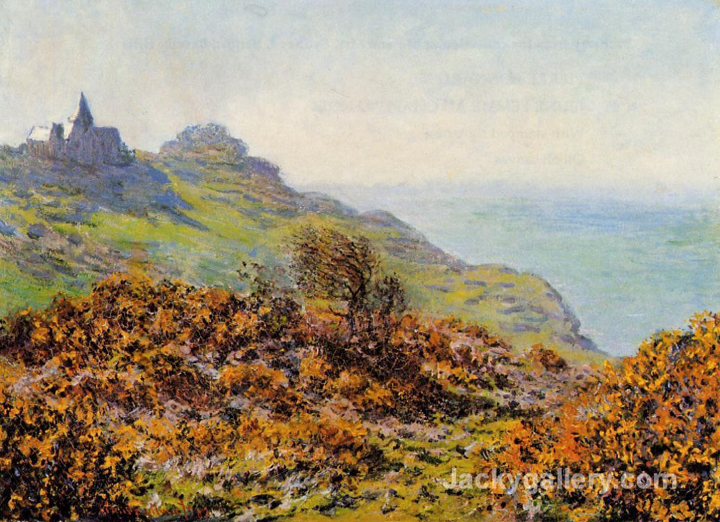 Church at Varengeville and the Gorge of Les Moutiers by Claude Monet paintings reproduction