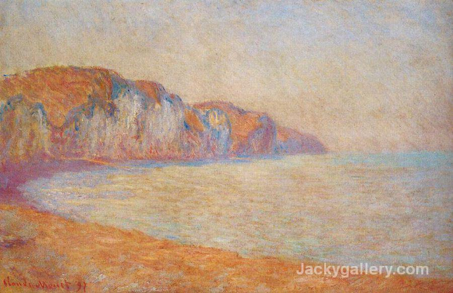 Cliff at Pourville in the Morning by Claude Monet paintings reproduction