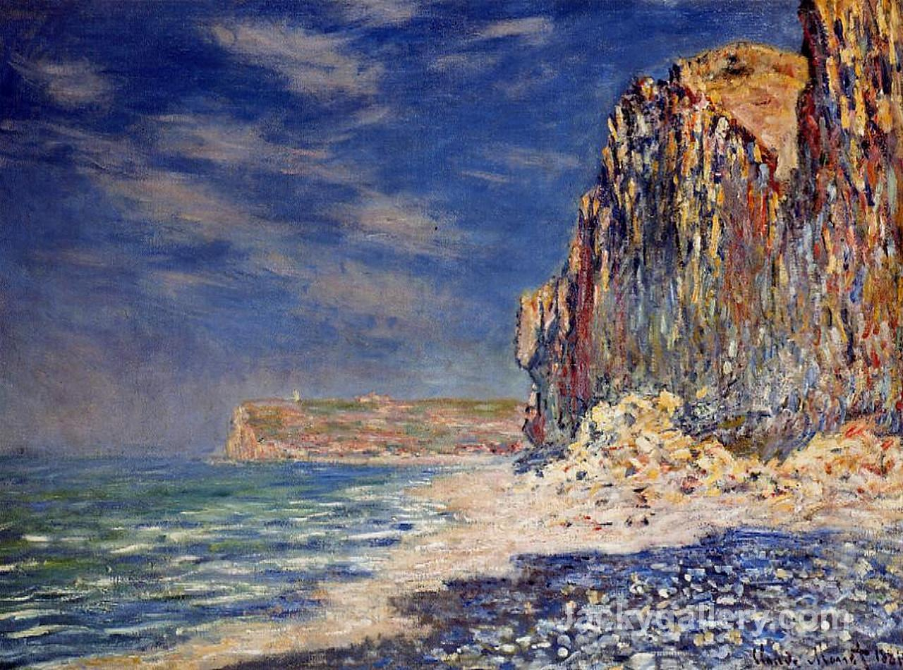 Cliff near Fecamp by Claude Monet paintings reproduction