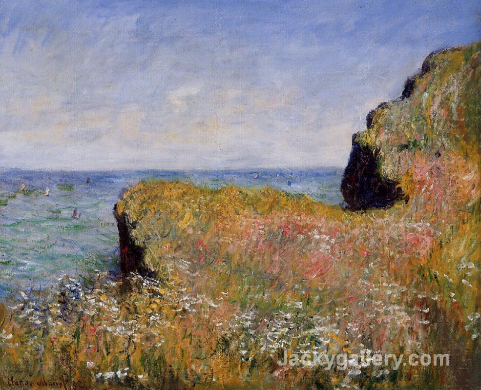 Edge of the Cliff, at Pourville by Claude Monet paintings reproduction