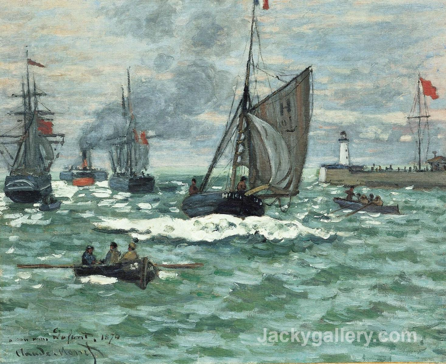 Entrance to the Port of Honfleur by Claude Monet paintings reproduction