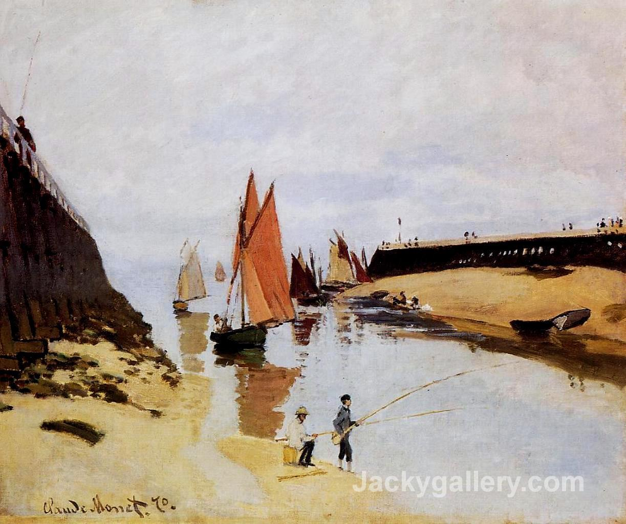 Entrance to the Port of Trouville by Claude Monet paintings reproduction