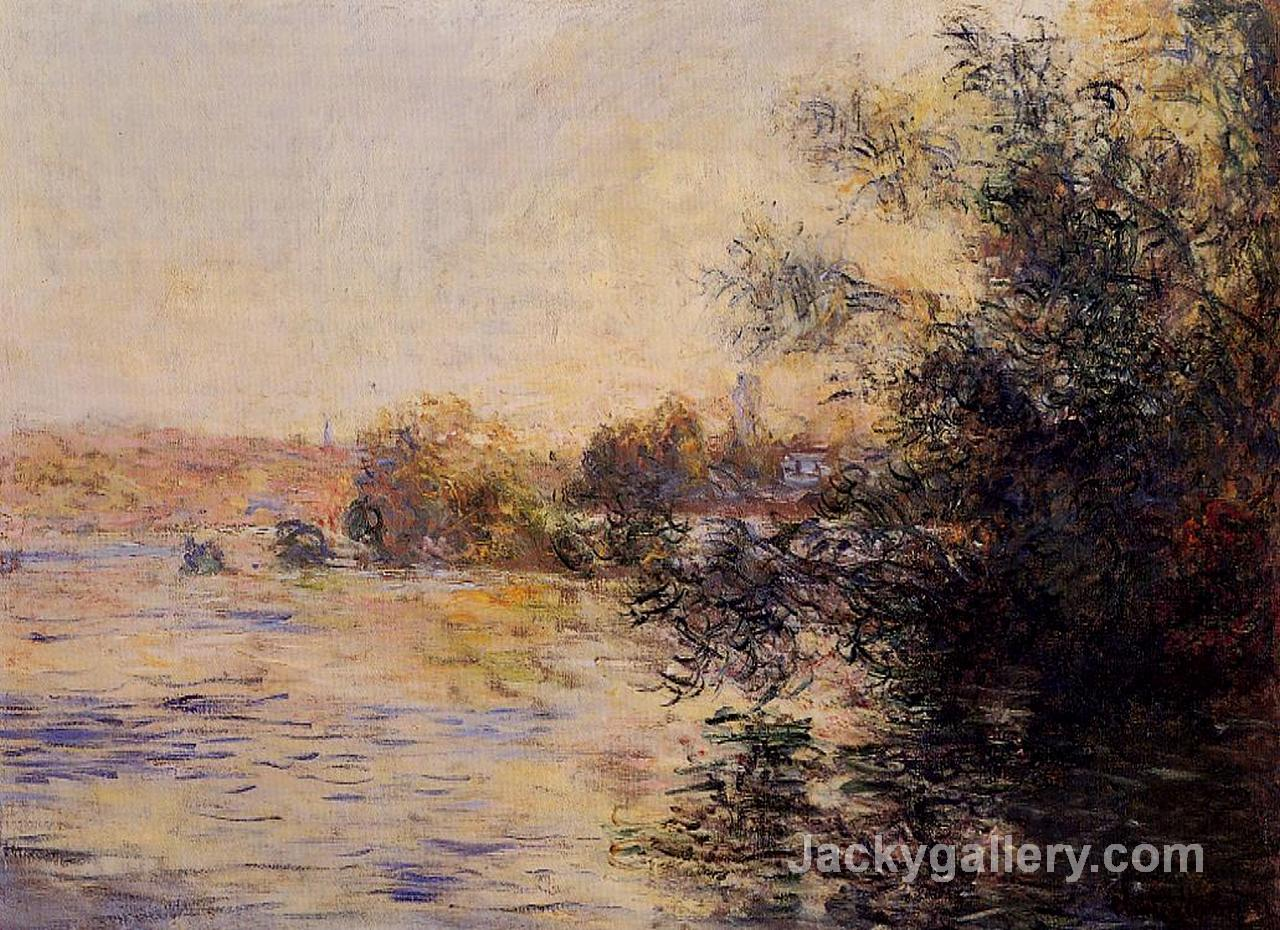 Evening Effect of the Seine by Claude Monet paintings reproduction