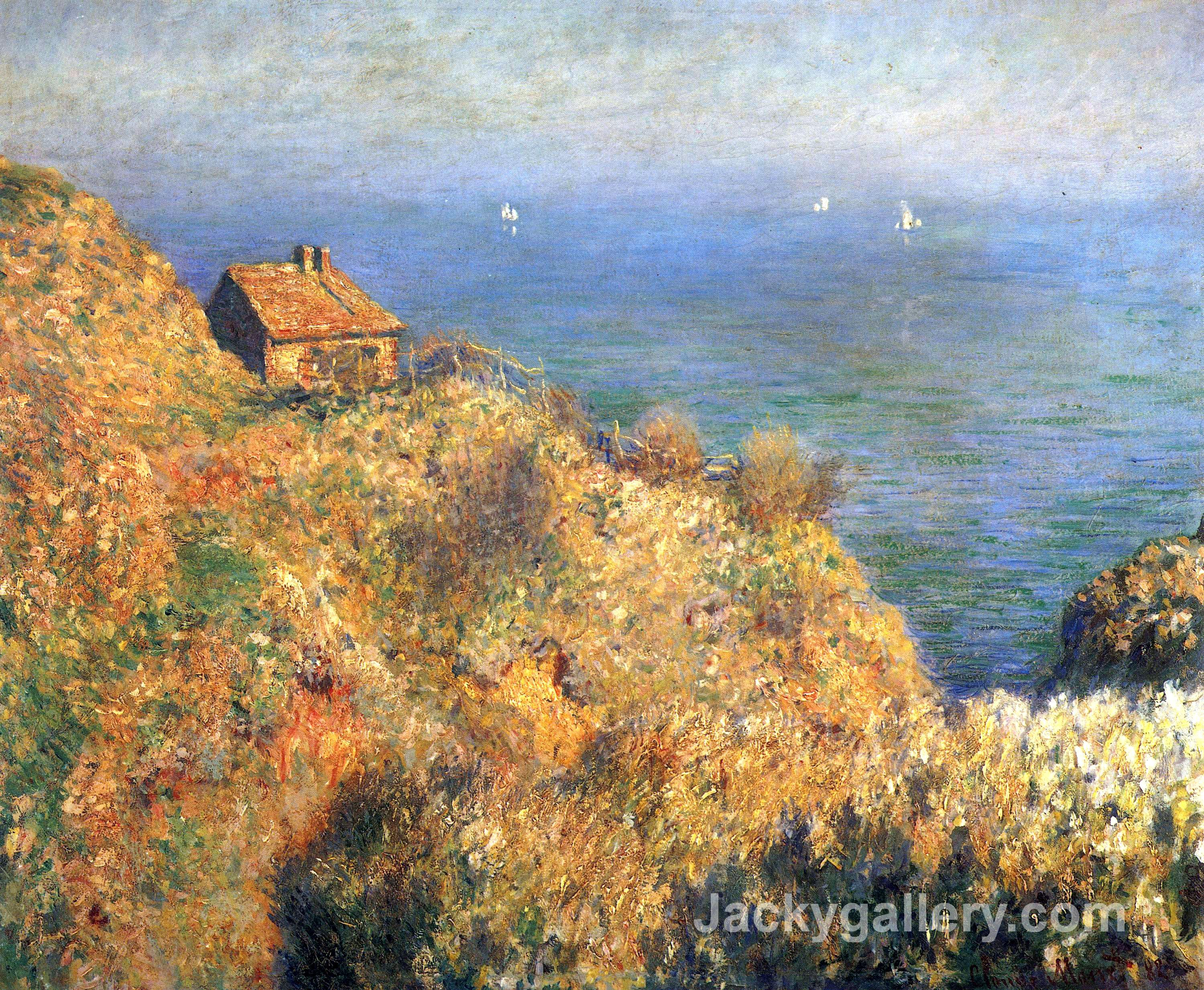 Fishermans House at Varengeville by Claude Monet paintings reproduction