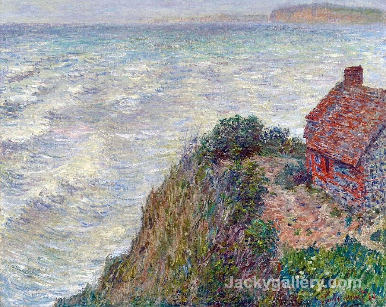 Fishermans House in Petit-Ailly by Claude Monet paintings reproduction