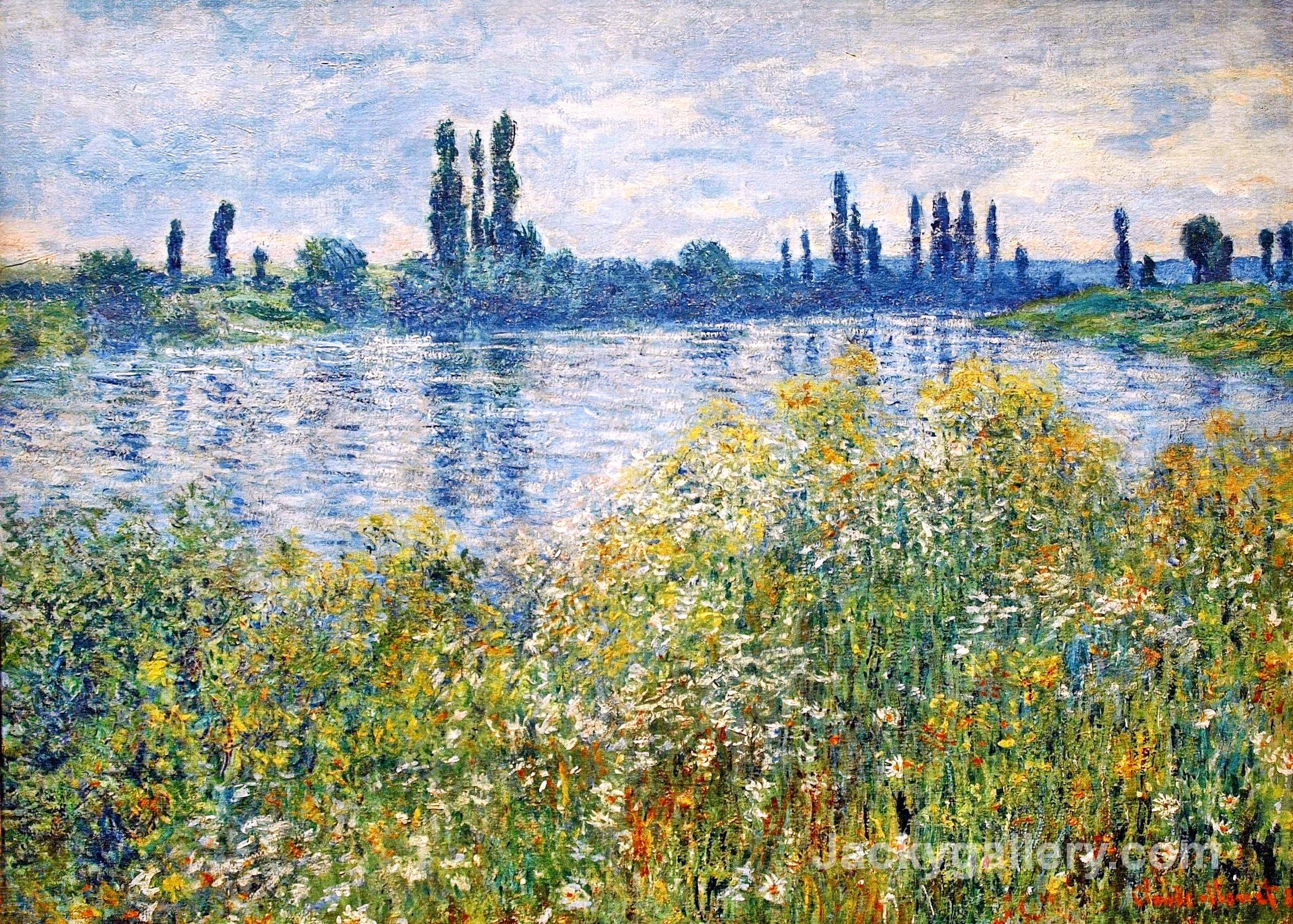 Flowers on the Banks of Seine near Vetheuil by Claude Monet paintings reproduction