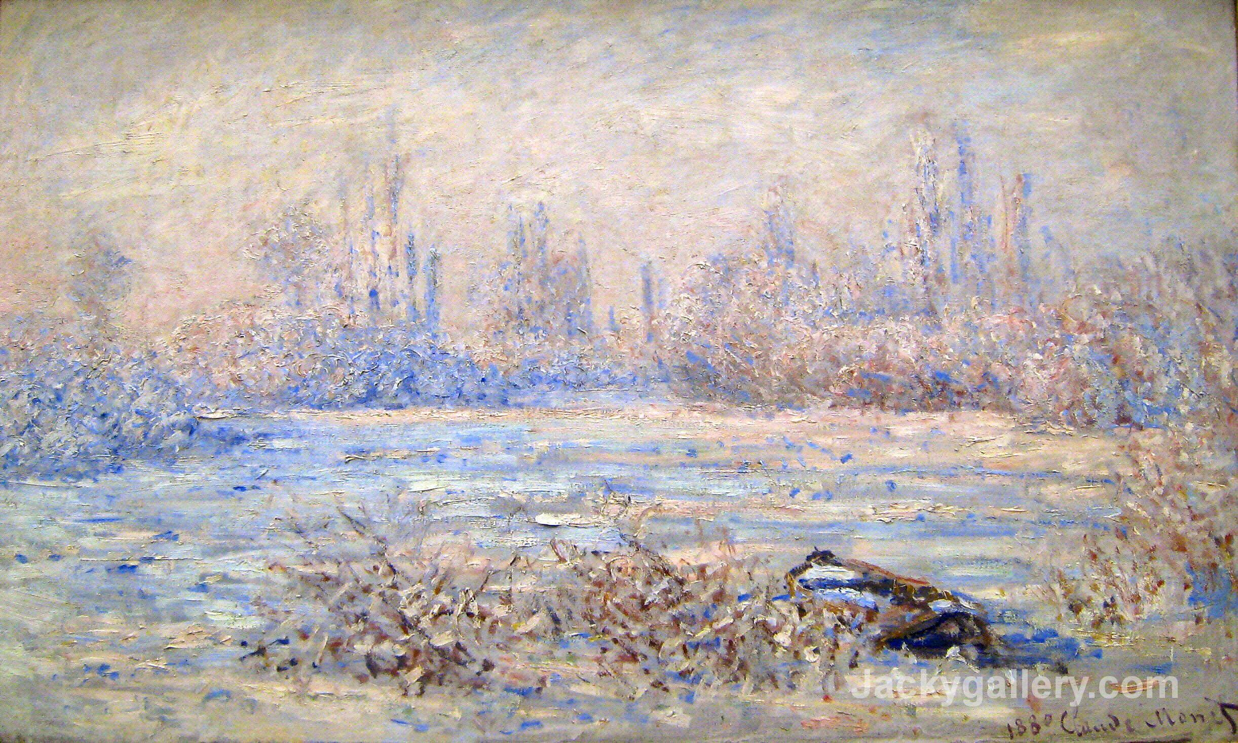 Frost near Vetheuil by Claude Monet paintings reproduction