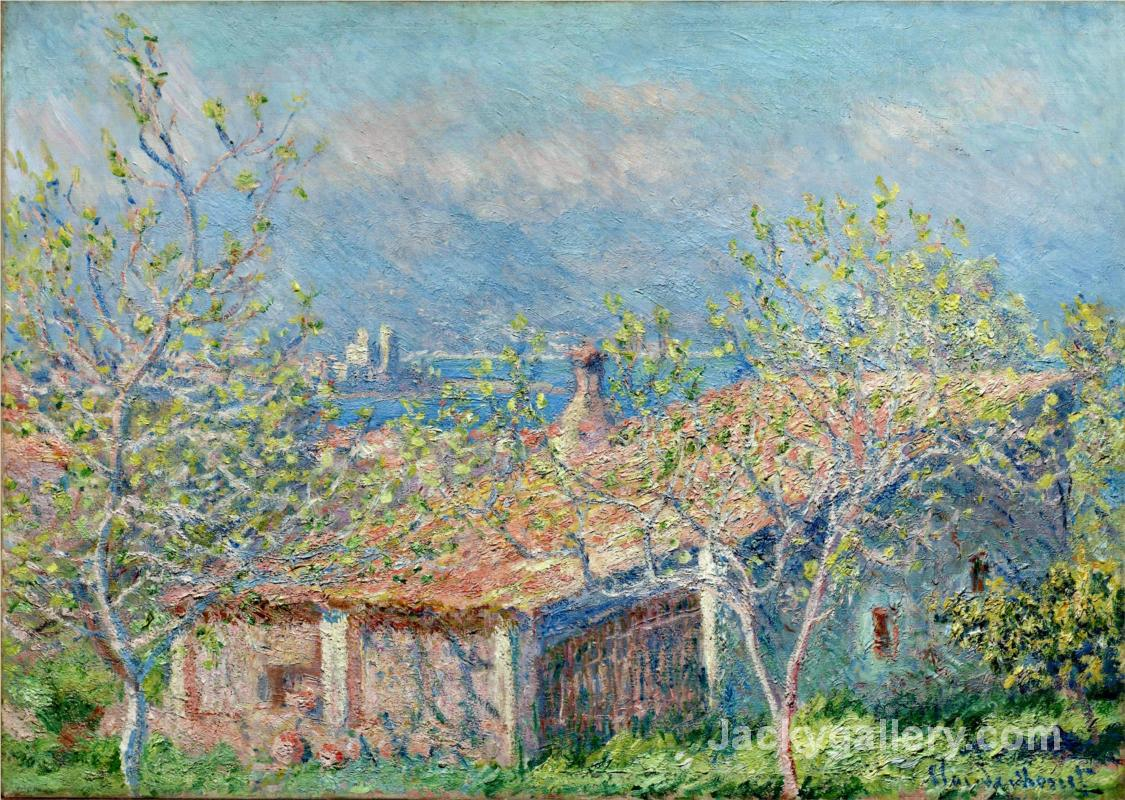 Gardeners House at Antibes by Claude Monet paintings reproduction