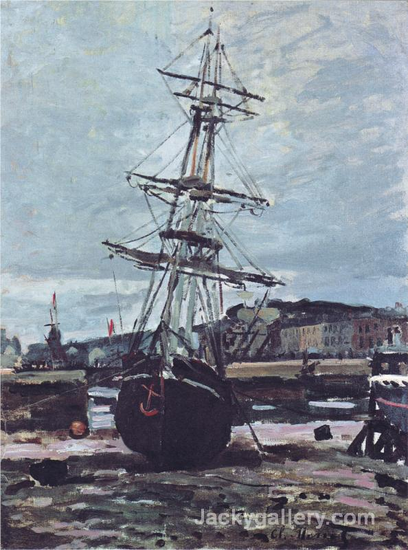 Gestrandetes Boot in Fecamp by Claude Monet paintings reproduction