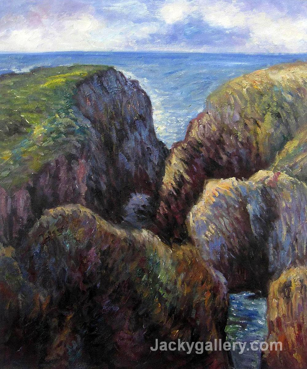 Group of Rocks at Port Goulphar by Claude Monet paintings reproduction