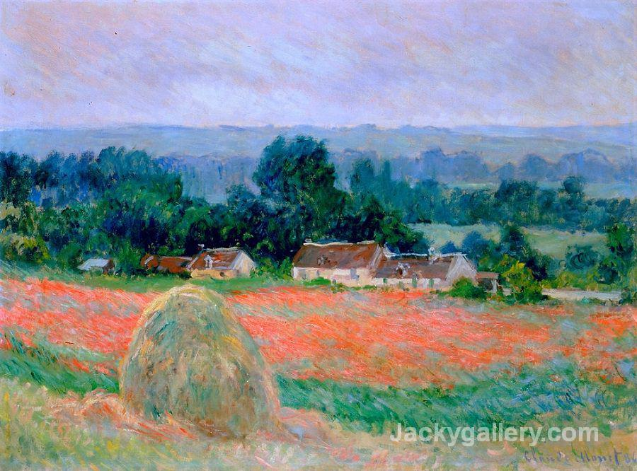 Haystack at Giverny by Claude Monet paintings reproduction