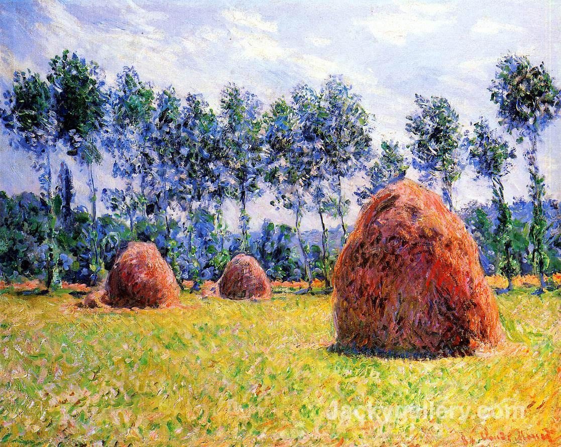 Haystacks at Giverny by Claude Monet paintings reproduction