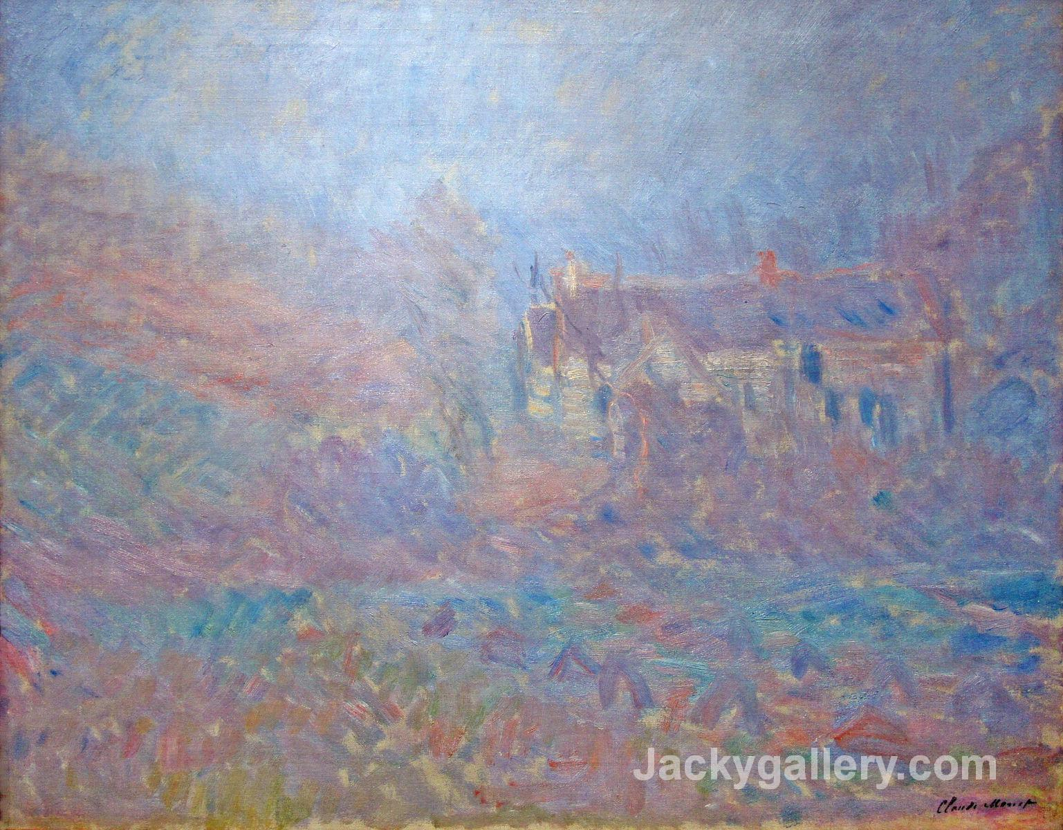 Houses at Falaise in the Fog by Claude Monet paintings reproduction