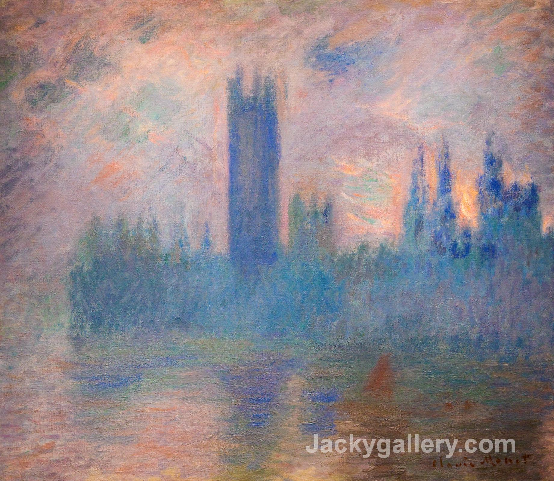 Houses of Parliament, Westminster by Claude Monet paintings reproduction