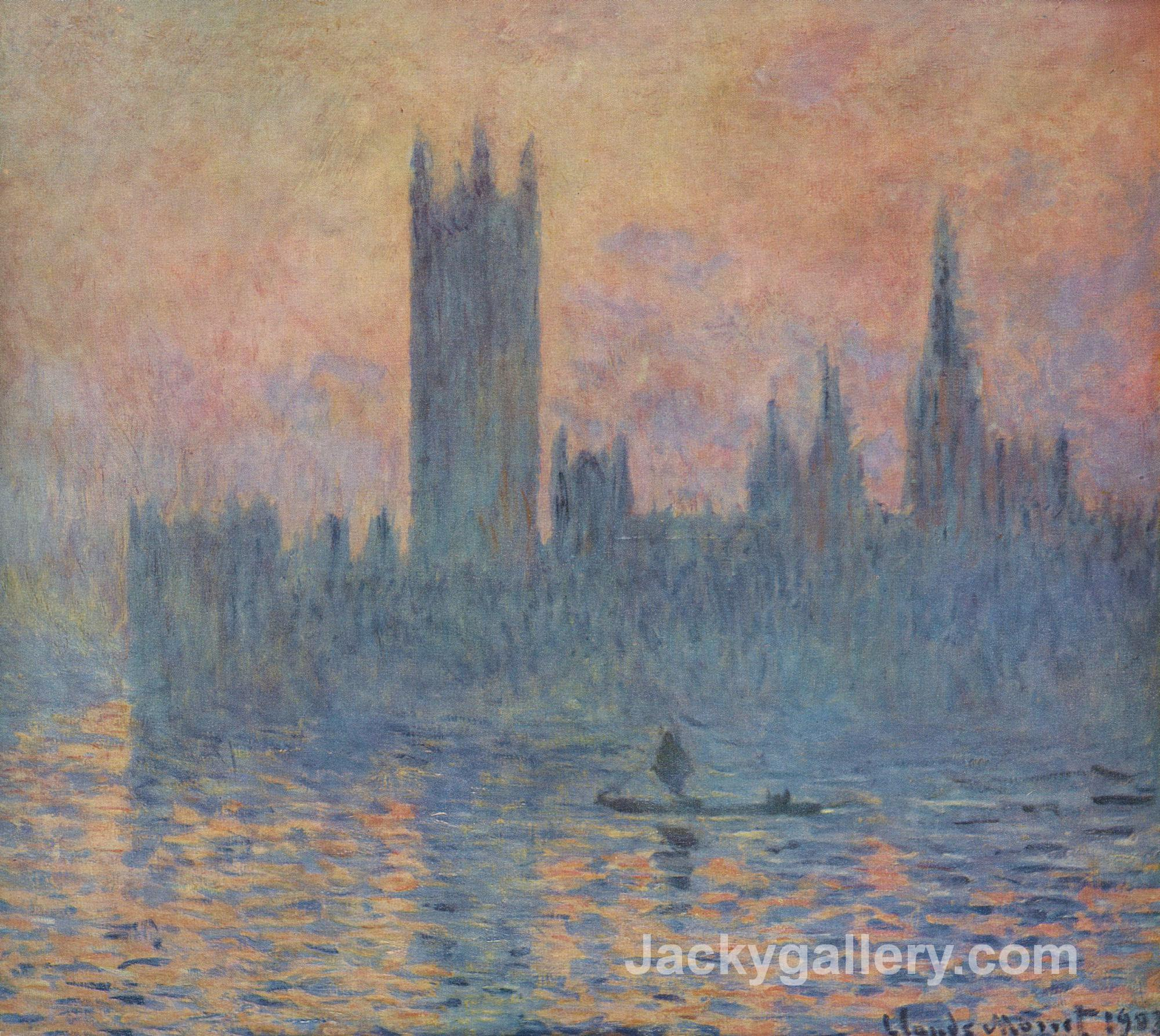 Houses of Parliament in Winter by Claude Monet paintings reproduction