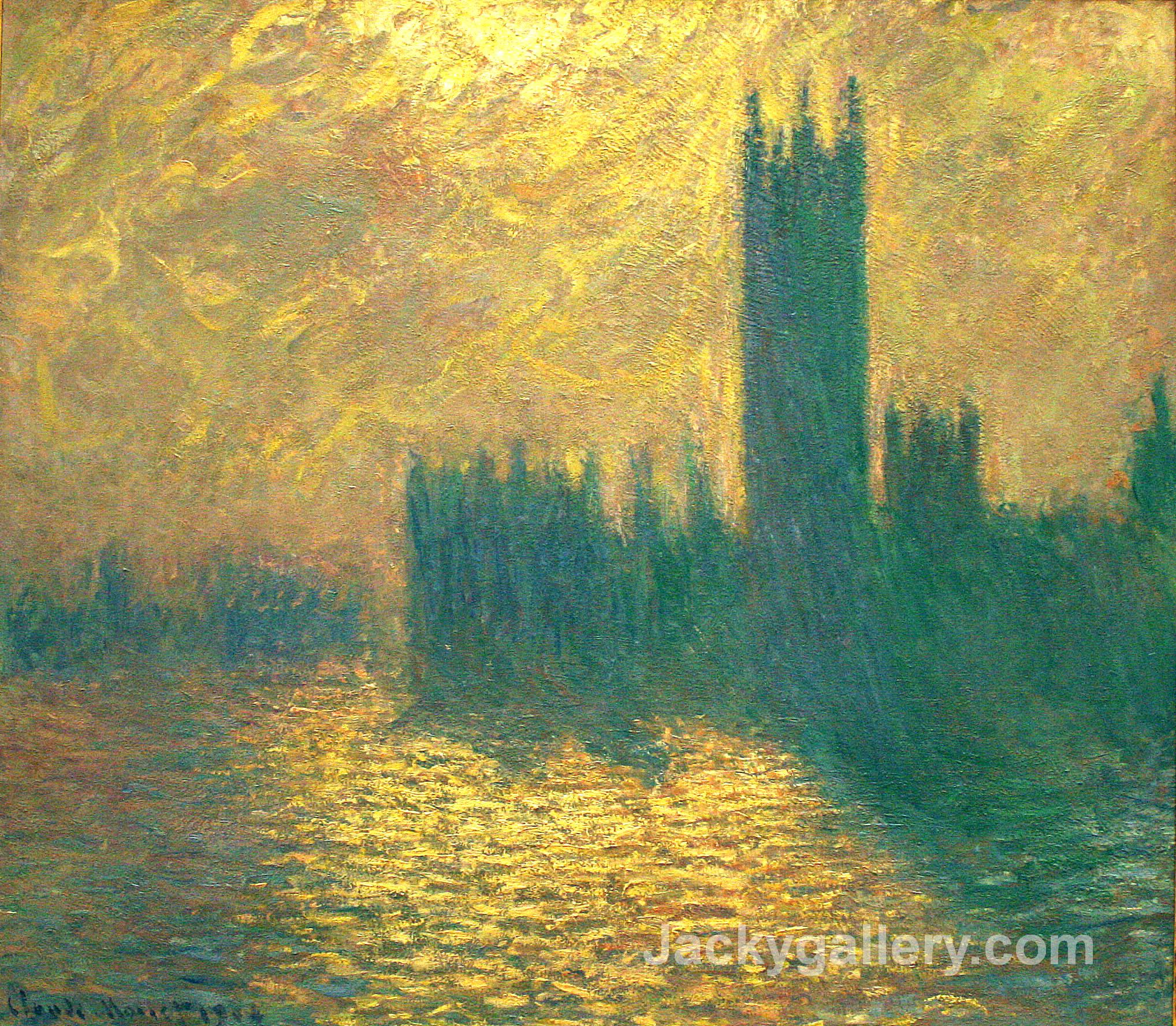Houses of Parliament by Claude Monet paintings reproduction